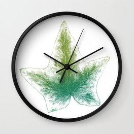 Ivy leaf - greens Wall Clock