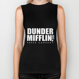 dunder miff-lin paper company boyfriend t-shirts Biker Tank
