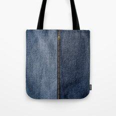 Denim Zip Tote Bag