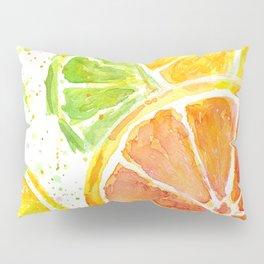 Fruit Watercolor Citrus Pillow Sham
