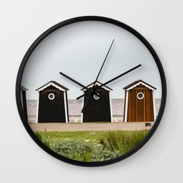 Beach Houses France Wall Clock