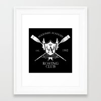 rowing Framed Art Prints featuring Aglionby Rowing Club (white) by cloven