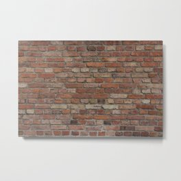 Build the wall brick wall texture vintage with red bricks pattern Metal Print