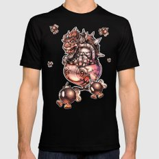 BOMBS AWAY BOWSER X-LARGE Black Mens Fitted Tee