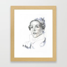 A Yorkshire Lady of Renown Framed Art Print