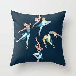 Suspended Rhythm Throw Pillow