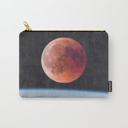 Blood Moon Over Earth Carry-All Pouch
