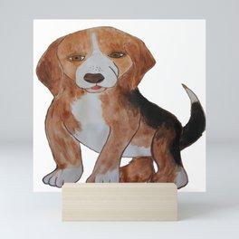 Beagle Water Color Painting Mini Art Print