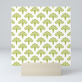 Floral Pattern Chartreuse 241 Mini Art Print