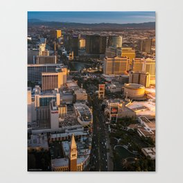 Sunset over Las Vegas Strip Canvas Print