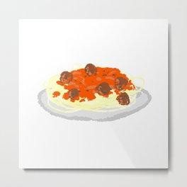 Pasta Metal Print