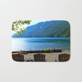 Adirondack Chairs at Lake Cresent Bath Mat
