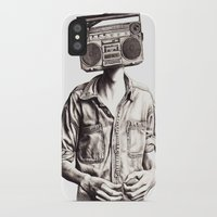 radio iPhone & iPod Cases featuring Radio-Head by KatePowellArt