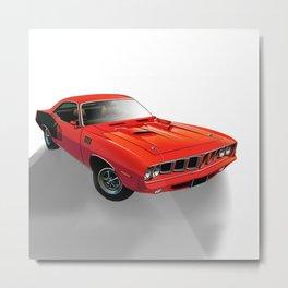 Red American muscle car Metal Print