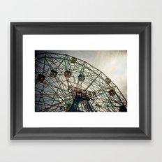 Coney Island Wonder Wheel Framed Art Print