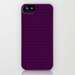 Large Zombie Purple and Black Hell Hounds Tooth Check iPhone Case