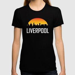Sunset Skyline of Liverpool England T-shirt