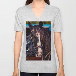Concept Kaltblutmarkt 2018 : Horse eyes Unisex V-Neck