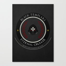 Black Templars Style Canvas Print