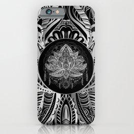 Lotus Flower Black & White iPhone Case