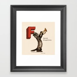 Animals & Instruments ABCs – F Framed Art Print