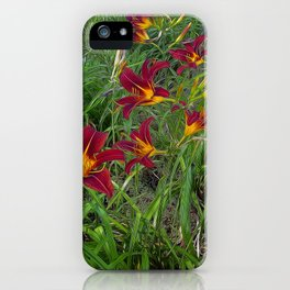 Tiger Lily Garden iPhone Case