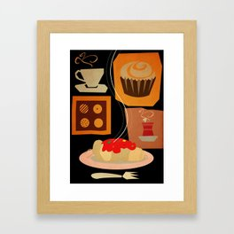 cafe poster Framed Art Print