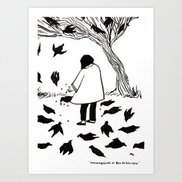 Mocking Birds at Bois de Boulogne Art Print