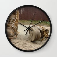 road Wall Clocks featuring Road by Art Pass