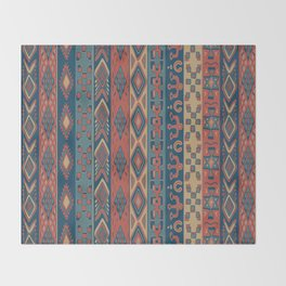 Navajo Geometric Pattern Throw Blanket