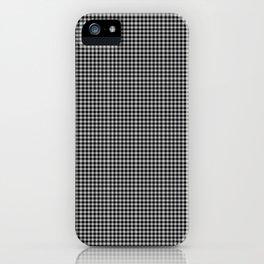Black Gingham iPhone Case