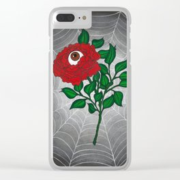 Caught -Eyeball Flower Clear iPhone Case