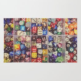 Colorful Dice Rug