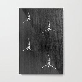 Fountain Divers B&W Metal Print
