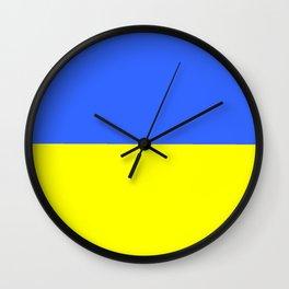 Flag of Ukraine 2 -Ukrainian,Україна, Ucrania,kiev,sevastopol Wall Clock