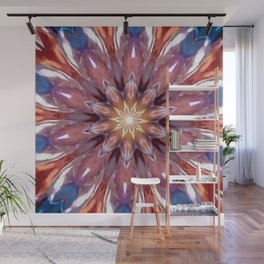 Glass Bubble Rainbow Kaleidoscope Wall Mural