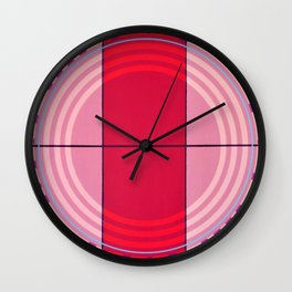 August - dot graphic Wall Clock