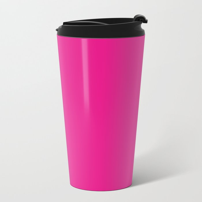 Simply pink color - Mix and Match with Simplicity of Life Metal Travel Mug