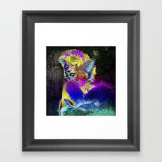 Marilin butterfly dolphin  Framed Art Print