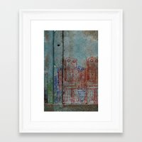 army Framed Art Prints featuring Robot army by Ale Ibanez
