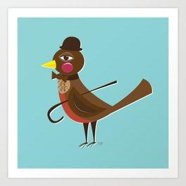 Dapper Mr. Robin Art Print