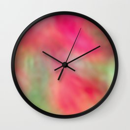 Pink Flower Dreaming Wall Clock