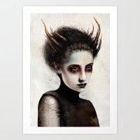 death Art Prints featuring Death by Feline Zegers