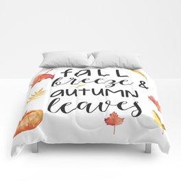 Fall breeze, autumn leaves Comforters