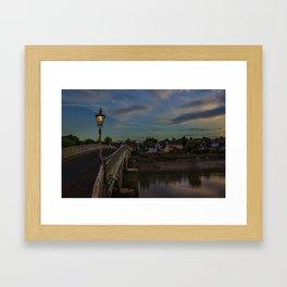 Bridge Over The Wye Chepstow Framed Art Print