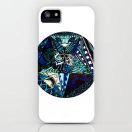 Blue Toned Pentagram iPhone Case