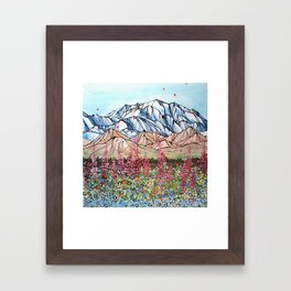 Denali Fireweed Framed Art Print
