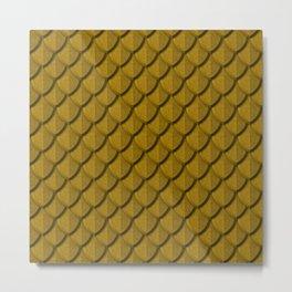 Elegant Gold Dragon Scale Metal Print