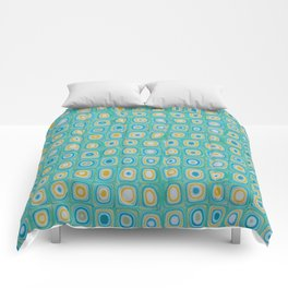 Yellow Blue Comforters