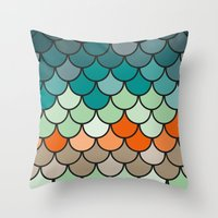 scales Throw Pillows featuring Scales by Pattern Design